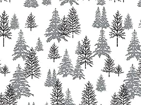 Gift WRAP Tissue Paper for Christmas, 24 Sheets, Large 20x30, Printed Decorative Tissue Paper for Gift Wrapping (Misty Black and Silver Trees)