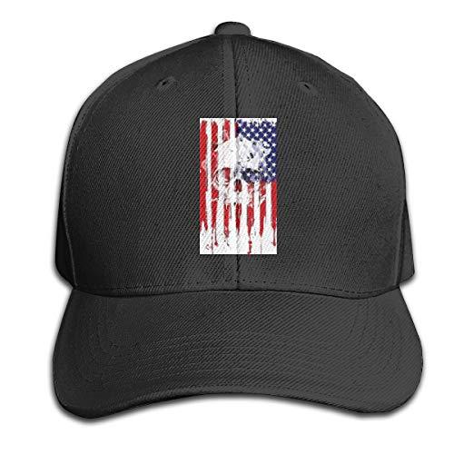 Johnson hop American Flag Skull Einstellbare Basketballkappe Schirmmütze Herren Damen Fitness Unisex