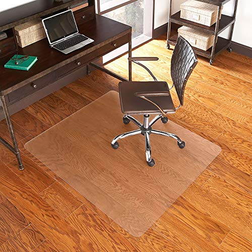 ES Robbins EverLife Hard Floor Rectangle Vinyl Chair Mat, 46 by 60-Inch, Clear