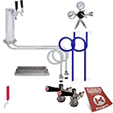 Kegco EBDTCK-2-542-2 Deluxe Tower Kegerator Conversion Kit No Tank