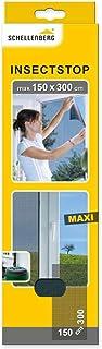 Schellenberg 50325 horrengaas voor grote ramen, houdt muggen en andere insekten buiten, bevestiging zonder boren, zagen of...