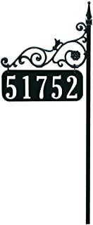 Address America Yard Sign [Orleans Custom House Address Numbers Plaque Handcrafted 48