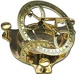 Elecsa Reloj De Sol Nautic Brújula latón 6,5cm + Estuche de Madera 9060