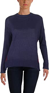 Womens Colorblocked Knit Sweater