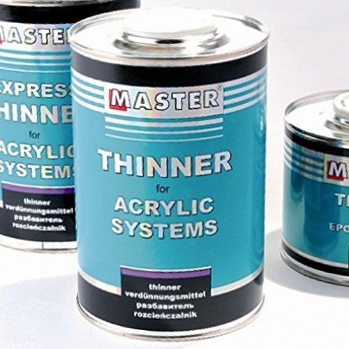 Troton Disolvente acrílico Master universal, 1 L, Thinner diluyente acrílico, disolvente para pinturas acrílicas e imprimaciones incoloras.