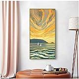 cuadros decoracion salon Carteles de pintura de lienzo de paisaje de arte abstracto nórdico e impresión de cuadros de arte de pared para sala de estar comedor escaleras mural 23.6x31.5in (60x80cm) x1