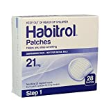 Novartis Habitrol 21mg Nicotine Patches, Step 1. Stop Smoking. 2 Boxes of 28 Each (56 Patches). 21 MG