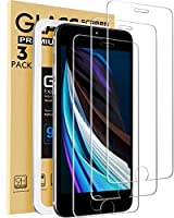 for iPhone SE Screen Protector : 3-Pack Glass Screen Protector designed for 2020 New Apple iPhone SE 2nd Generation and iPhone 6, iPhone 6s, iPhone 7 and iPhone 8 4.7-Inch. Screen Protector for iPhone 6 6s: Super Easy to install the Glass Screen Prot...