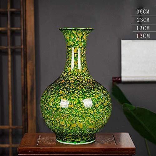 Ybzx Ceramiczny wazon doniczki na kwiaty pojemnik na rośliny ceramiczny D Jingdezhen ceramiczny wazon kompozycja kwiatowa to nowoczesny chiński styl dekoracje domowe ozdoby kreatywna moda salon bez botka