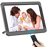 Digital Picture Frame 8 Inch Digital Photo Frame HD 1920X1080P with Remote Control 16:9 IPS Display Auto Slideshow Zoom Image Stereo Video Music Player Support USB SD Card 180° View Angle (Black)