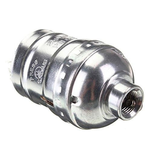MASUNN E27 Douille Edison Retro Pendentif Porte-Lampe sans Fil 110-220V-Argent