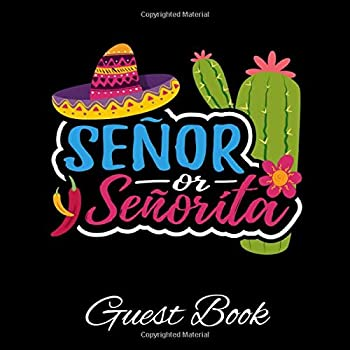 Paperback Senor Or Senorita Guest Book: Baby Shower Gender Reveal Guestbook Keepsake Memory Book Guest Signing + Photo And Notes Pages Gender Neutral Book
