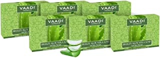 Aloe Vera Soap - 1 Pound(Pack of 6 x 75 Gms) - Best to reduce skin inflammation - Vaadi Herbals