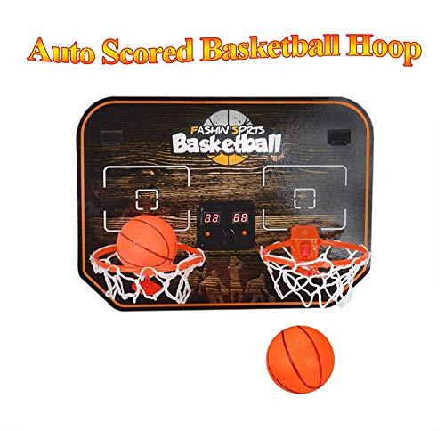 Mini Basketballkorb Spiel für Tür Doppelter elektronischer Scorer Auto Schiedsrichter Schutz der Tür für Kinder
