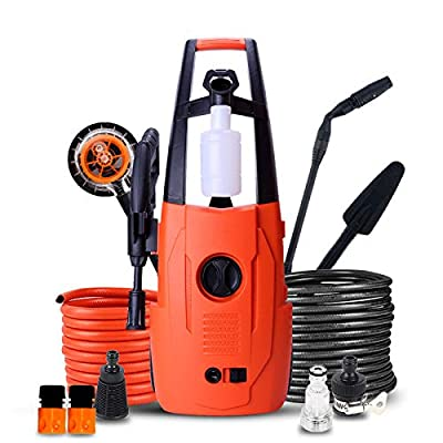 QXMEI Portable Electric High Pressure Cleaner 3-in-1 Nozzle Waterproofing System Power Pressure Washer 110 Bar 6.5L/min Flow - 1400W Home Pressure Washer,LT302C-Daccessories from Qxmei