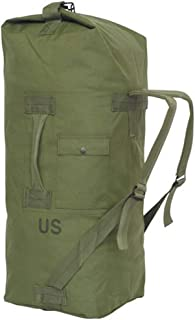 GI US Army Genuine Military Issue Duffle Bag Cordura Nylon 2 Carrying Straps Backpack Sea Bag Bug Out Bag Olive Drab
