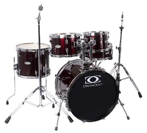 Drum Craft DC803023 Serie 3 Fusion Schlagzeug-Set, Rotweinrot
