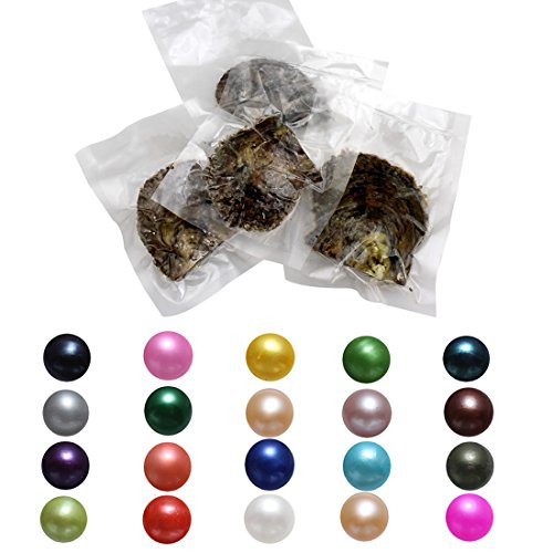 POSHOPS Wholesale 50 Oysters Love Wish Pearl Oysters Akoya Oysters with Pearl Inside Round Pearl Bulk for Family Pearl Party