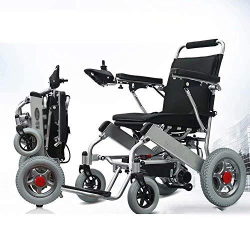 Y-L Behinderter Älterer Elektrischer Rollstuhl, Neuer Zusammenklappbarer und Leichter Reiserollstuhl 2019, Automatischer Intelligenter Rollstuhl, 360 ° -Joystick (Lithium-Batterie 12Ah)