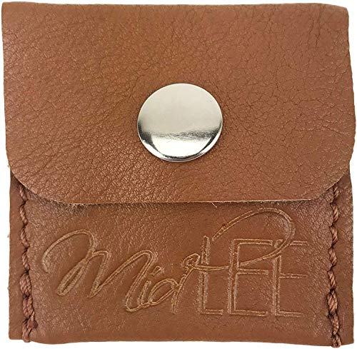 Midlee Leather Dog Tag Silencer Pouch (Tan)