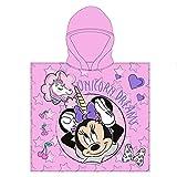 Toalla de Poncho para Playa y Piscina Infantil de Licencia Oficial (Minnie Mouse A)