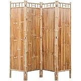 <span class='highlight'><span class='highlight'>BIGTO</span></span> Room Divider/Trellis 4-Panel Bamboo Folding Privacy Screens 160 x 160 cm