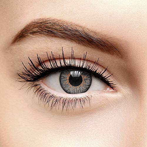 Chromaview Misty Tri Ton Farbige Kontaktlinsen Ohne Stärke Grau (90 Tage)