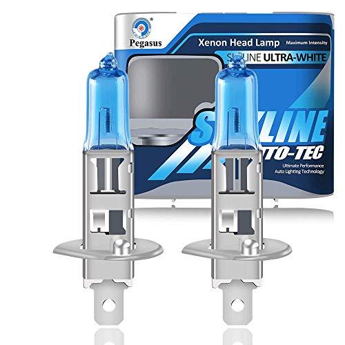 H1 12V 55W 5000K Bombillas Halógenas Lámpara de Xenón Súper Blancas de Alta Potencia Para Lámpara de Automóvil - Luz Antiniebla Luz Diurna DRL (2 piezas)