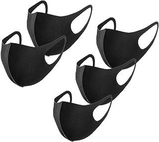 [Amazon限定ブランド]マスク 5枚セット 洗えるマスク 3Dマスク 個包装 通気性 かぜ用 花粉 紫外線対策 男女兼用 ポリウレタン素材10色選べる FENQ ブラック
