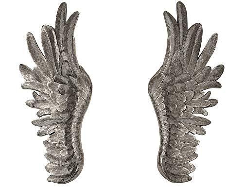 angel wings wall statue