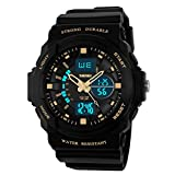 Reloj del de los Hombres Doble/Relojes Resistente al Agua al Aire Libre/Ver Estudiantes Varones-G
