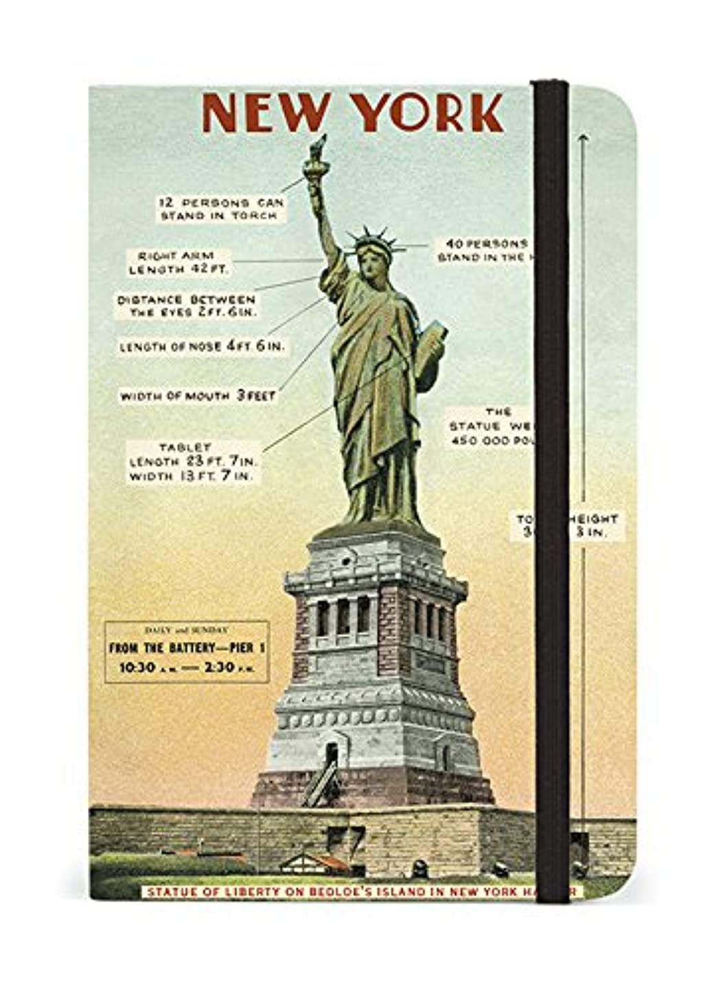 Cavallini Papers & Co. Notebook Vintage New York 256 Pages Featuring Classic Cream Lined Paper Stock, 4 x 6