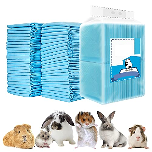 Rabbit Pee Pads, Disposable Super Absorbent Diaper, Pet Toilet/Potty Training Pads for Guinea Pigs, Hedgehog, Hamsters, Chinchillas, Cats, and Other Small Animals (33×45CM-100 Counts)