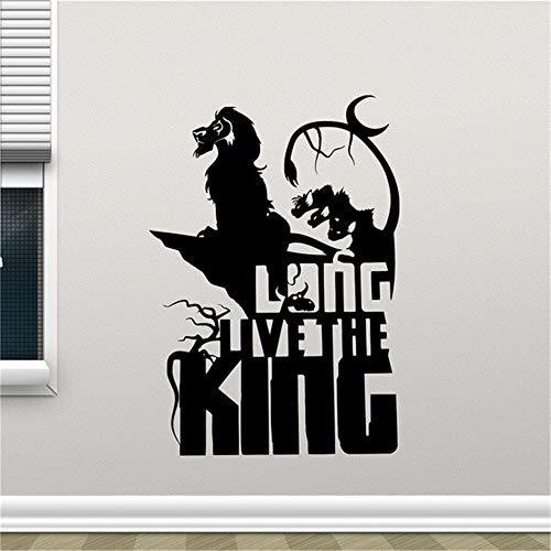 stickers muraux etoiles rouges Roi Lion Longue vie Le Roi Dessins Animés Autocollant Simba Nursery Enfants Mur De Chambre De Bébé