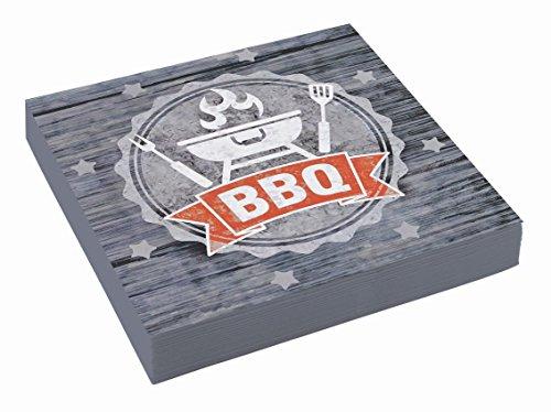 Amscan 9901859 - Servietten BBQ Party, 20 Stück, 33 x 33 cm, Grillparty, Gartenparty