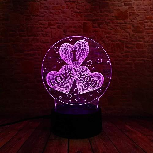 Geschenke für Weihnachten 3D Lampe Nachtlicht Ich liebe dich 3D Luftballons Herzform Led Nachtlicht Romantische Atmosphäre Lampe Beleuchtung Heiße Hochzeitsdekoration Liebhaber Paar Geschenke mit Fer