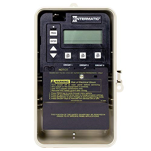 Intermatic PE153PF Three Circuit Digital Time Switch with Freeze Protection Outdoor Enclosure