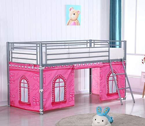 HLS Tent for Midsleeper Cabin Bed - (Pink Castle)