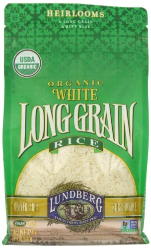 Lundberg White Rice, Long Grain, Gluten Free, Organic, 32 Ounce (Pack of 1)
