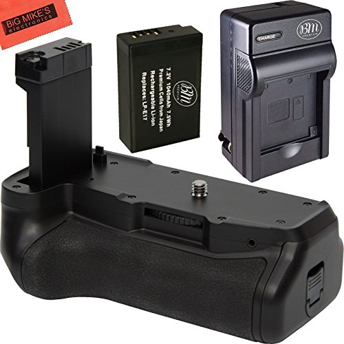 Battery Grip Kit for Canon Rebel T7i and EOS 77D DSLR Camera - Includes Battery Grip + 1 LP-E17 Battery + Battery Charger