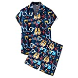 Playa Camisa Hombre Verano Cuello V Hombre Moderno Hawaii Camiseta Moda Estampado Vacaciones Hombre Manga Corta Set Suelta Casual Secado Rápido Hombre Deportiva Camisa Q-001 3XL