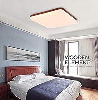 KMMK 装飾的なシャンデリア、シーリングランプ、43Cmの超薄型リビングルームLedシーリングライト、シーリングライトスクエアベッドルームスタディアイルライトレアルマホガニーバルコニー光は暖かいです,無段階調光