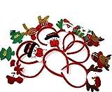 THE TWIDDLERS 8 Serre-Têtes Noël - Coloré Bandeaux De Noël pour Tous Les âGes - Décoration Fête Noël pour Enfant Adulte