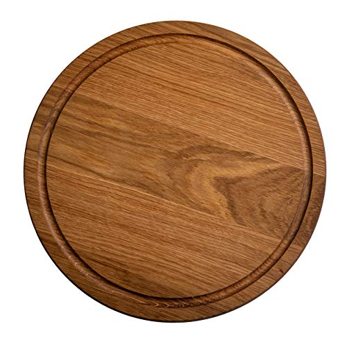 Generic Oak Round Cutting Board, Reversible Cutting Boards For Kitchen, Wood Chopping Board, Great...
