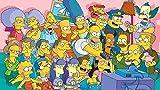 IUWAN Puzzle de 1000 Piezas para Adultos Póster de la Familia Simpsons Puzzle para niños Juegos de Rompecabezas para la Familia |Juego Educativo 38x26CM