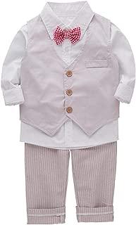 Bilo Infant Baby Kid Boy 3-Pieces Formal Wear Shirt, Vest and Pants