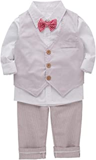 Bilo Infant Baby Kid Boy 3-Pieces Formal Wear Shirt, Vest and Pants