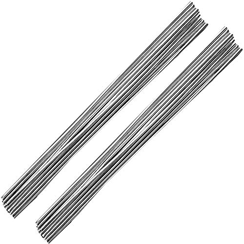 Aluminum Welding Rods, Linkhood 20-Pack Universal Low Temperature Aluminum Welding Cored Wire for Electric Power, Chemistry, Food, Silver 0.08 x 10in/2 x 250mm (20-pack)