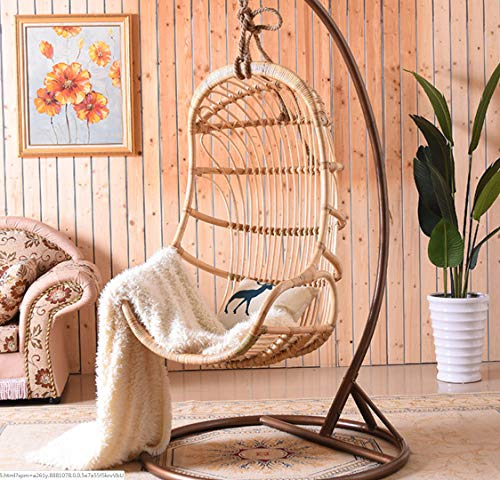 Gtbanv Nordic net red ins hanging basket Bali bed and breakfast rattan hanging chair home balcony garden indoor real rattan swing chair 76 * 118 3