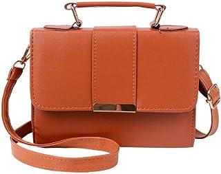 Cllym Summer Fashion-Frauen-Beutel-Leder-Handtaschen PU-Schultertasche Kleine Klappe Umhängetaschen für Frauen Messenger s...